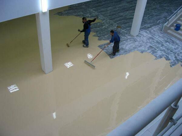 Животные и наливной пол гидроизоляция бассейнов глиной